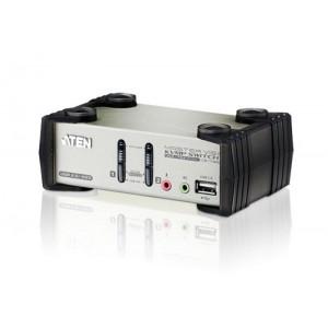 1 Console(USB), 2 PCSs(USB), w/ OSD + 2 Peripheral(USB2.0) [CS1732B]