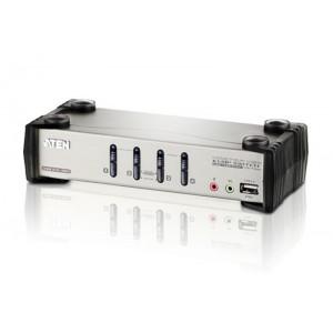 1 Console(USB), 4 PCSs(USB), w/ OSD + 2 Peripheral(USB2.0) [CS1734B]