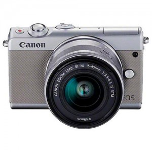 EOS M100 Mirrorless Digital with 15-45mm Lens (Grey)